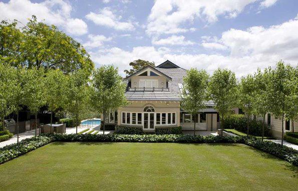 长沙欧式别墅庭院之法式庭院景观